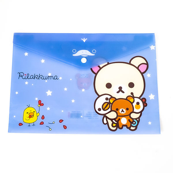 Purple Japanese Rilakkuma File Holder