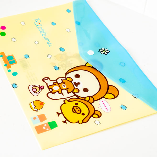 Yellow Japanese Rilakkuma File Holder