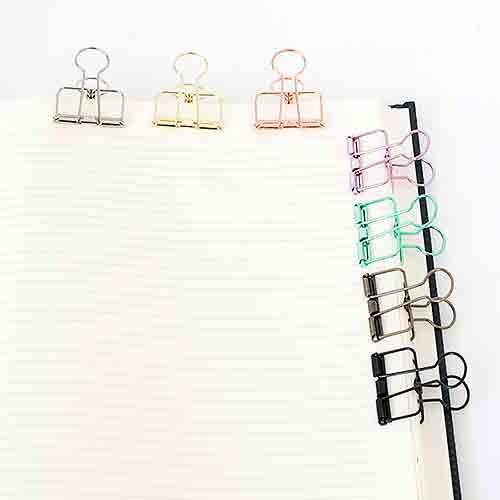 Pink Skeleton Binder Clips