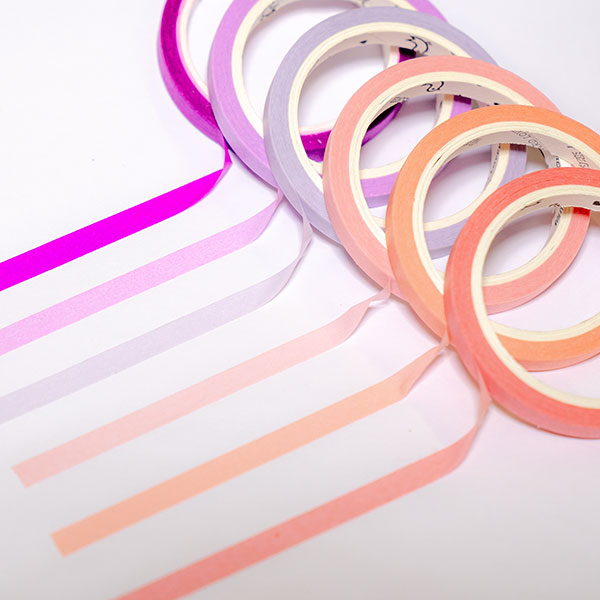 Slim Solid Color Washi Tapes