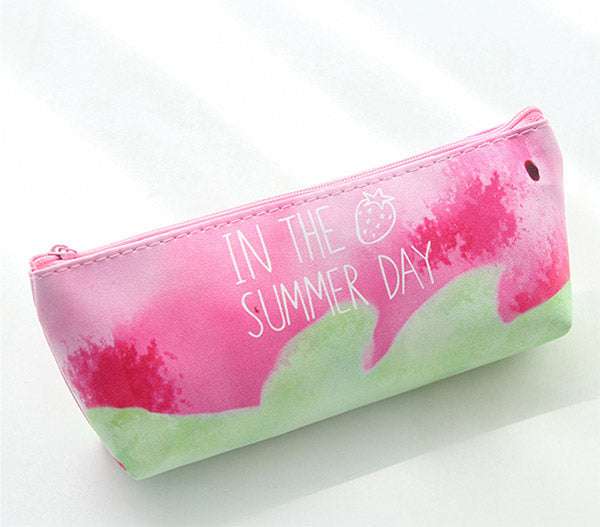 Pink Strawberry Pencil Case