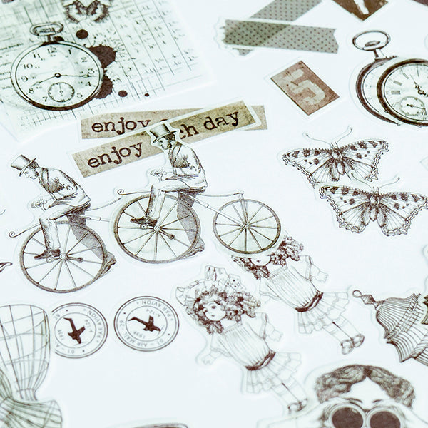 Vintage items Sticker Set