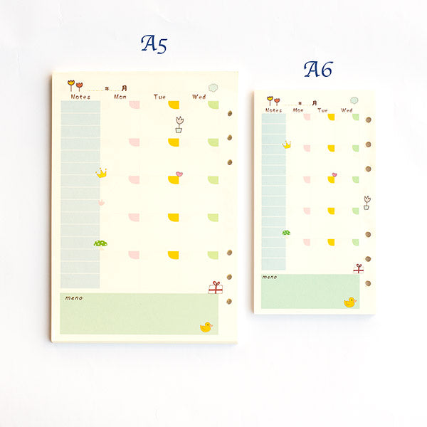 Weekly A5/A6 Diary Inserts