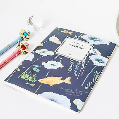Willow Story With Fish Notebook