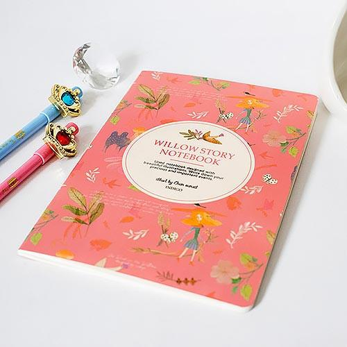 Willow Story Red Notebook
