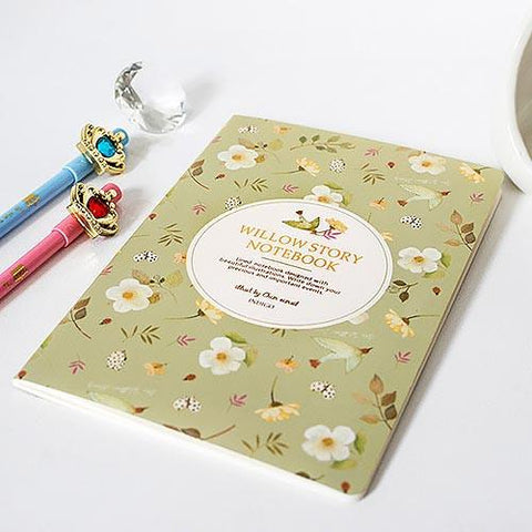 Willow Story Notebook Pastel Green