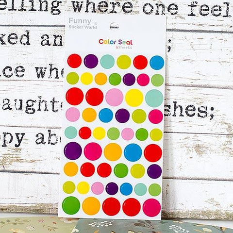 Rainbow dots stickers