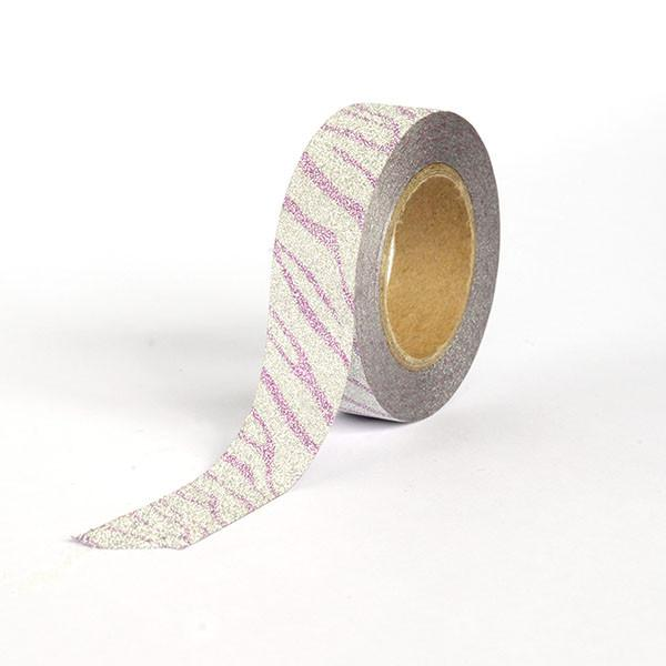 Silver with Pink pattern Washi Tape