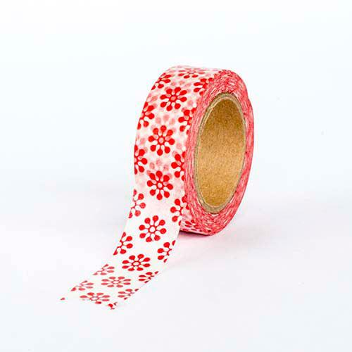 Washi Tape - Red Japanese Pattern
