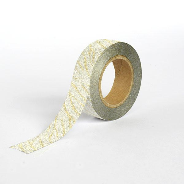 Silver with Gold pattern Washi Tape
