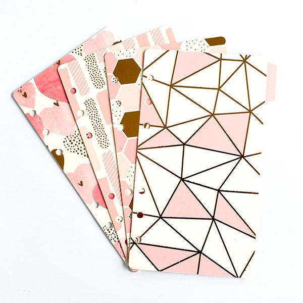 Dividers - Pink And Gold Pattern