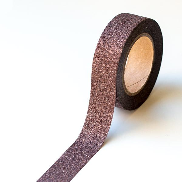 Washi Tape - Glitter Brown