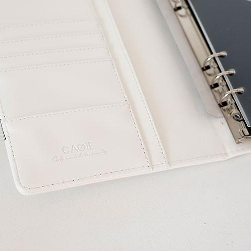 Pure A5 white with Black birds notebook
