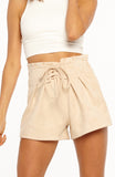 All Wrapped Up Suede Shorts