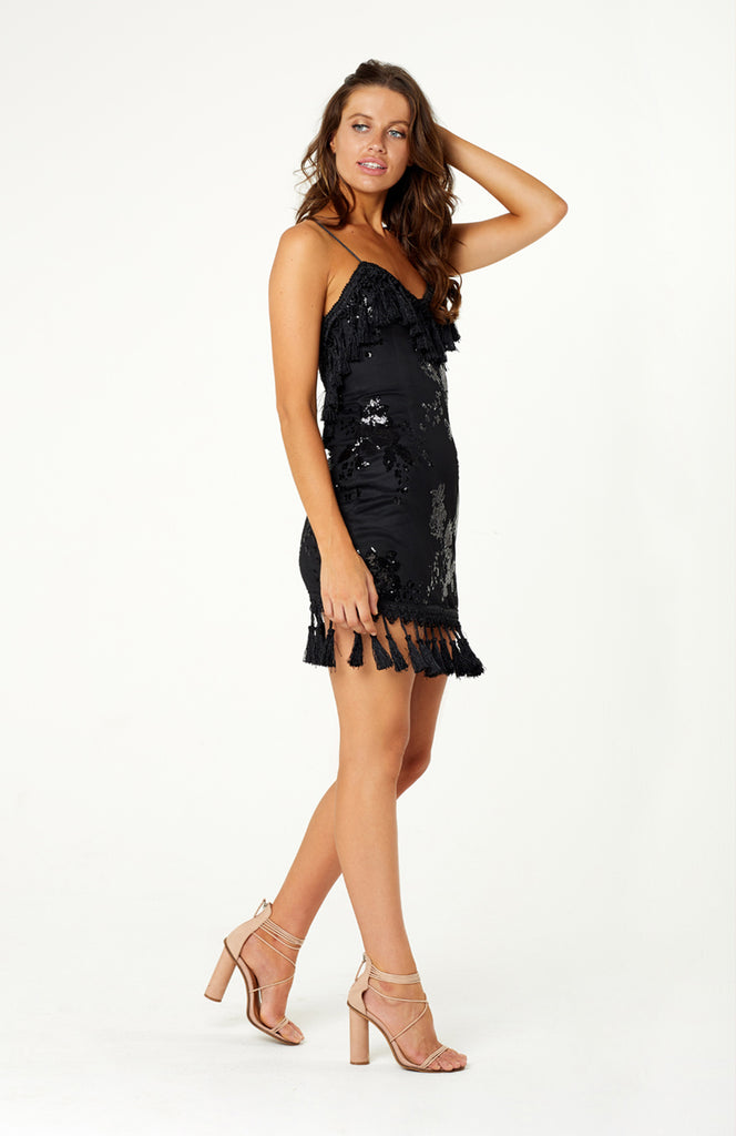 Siena Sequin Tassel Dress