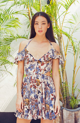 Desert Blooms Halter Dress