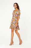 Mexicola Mustard Floral Dress