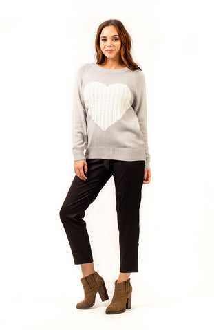 Grey Hearts Knitted Jumper