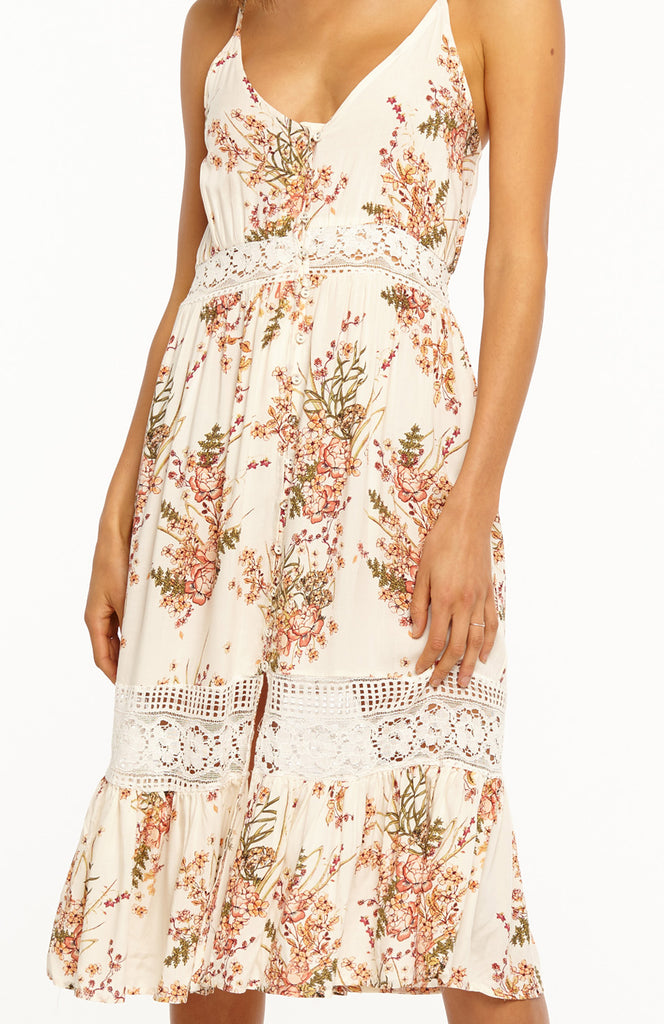 Head in the Clouds Midi Lace Dress
