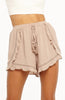 Mocha High Waisted Shorts