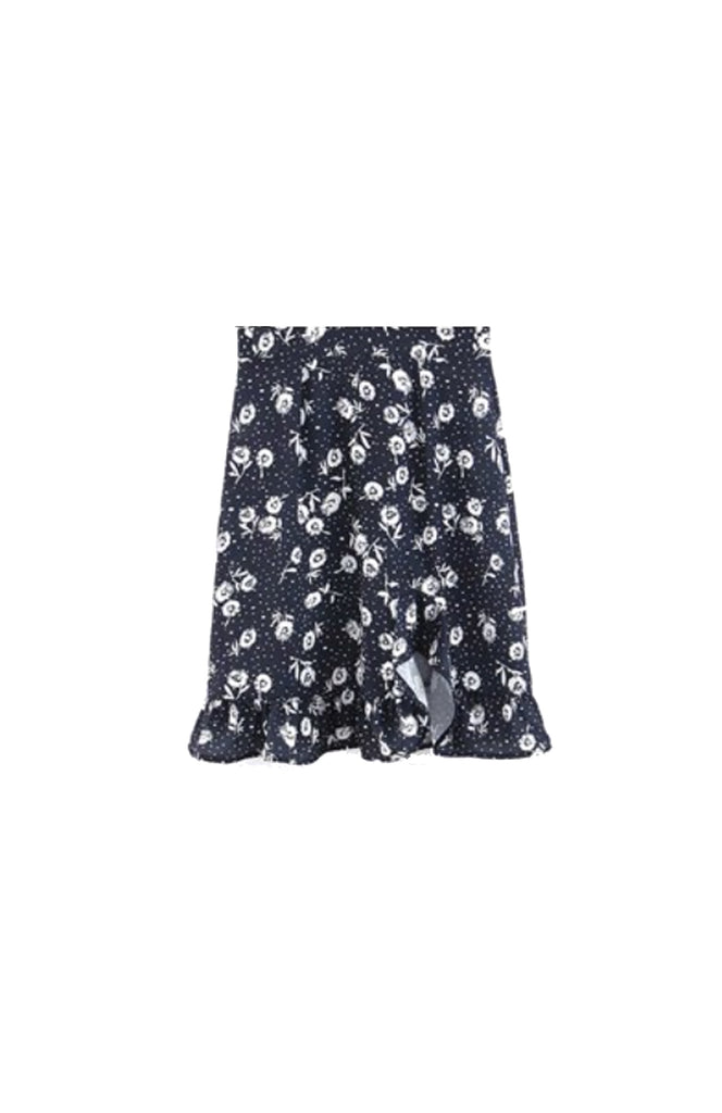 Rugen Ruffle Floral Mini Skirt