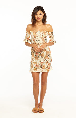 Sakura Floral Bodycon Dress