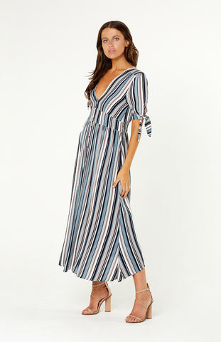 Sicily Stripe Maxi Dress