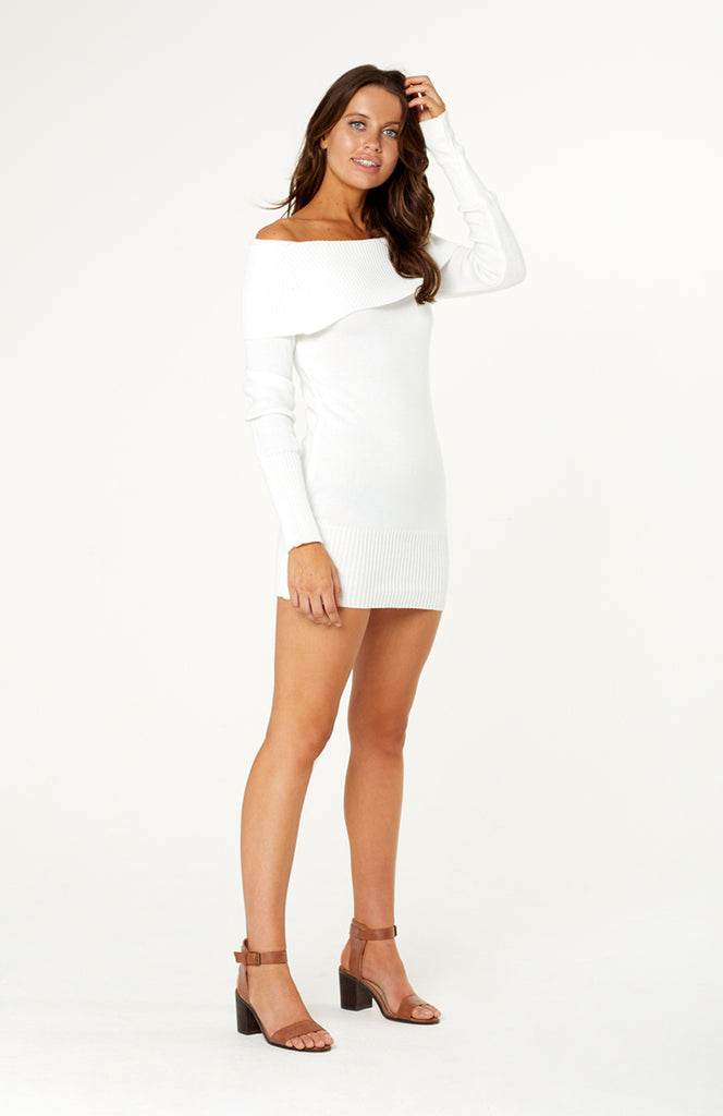 Sweet Whispers Knit Dress White