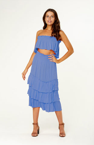 Lady Luck Fringe Blue Dress