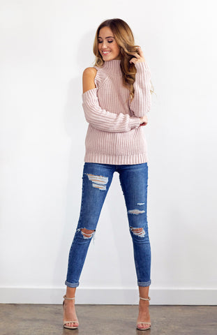 Wrap Me Up Knit Jumper Navy