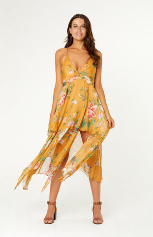Take Me Away Floral Maxi Dress