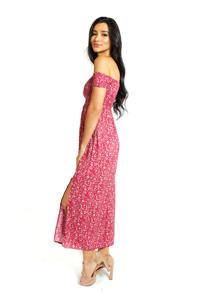 Easy Breezy Floral Maxi Dress Red