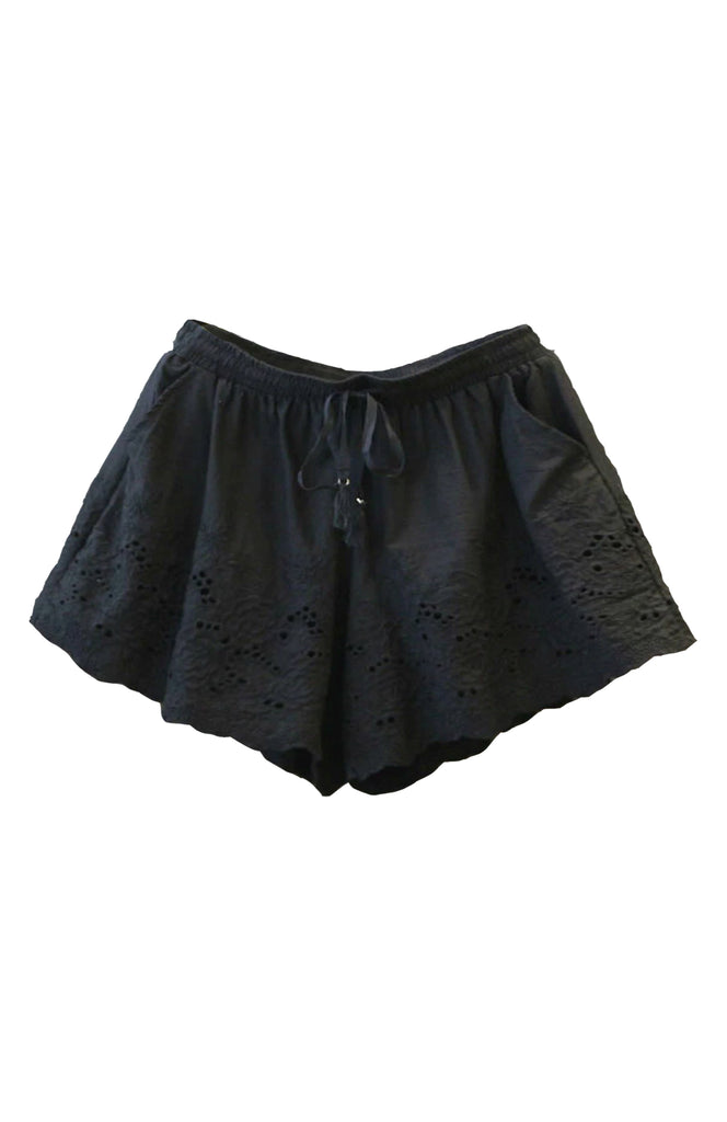Eloise Embroidered Shorts Black