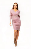 Jasmund Knitted Two Piece Dress Pink