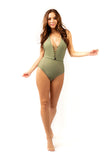 Kindred Khaki One Piece Swimsuit