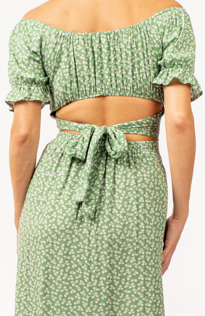 Peppermint Picnic Two Piece Midi Dress
