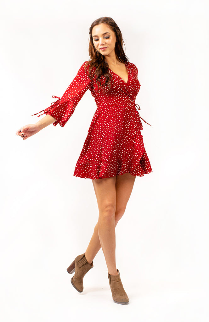 Plum Pudding Polka Dot Dress