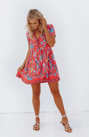 Figgy Floral Mini Dress