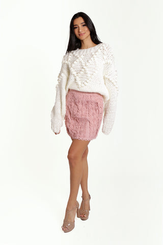 L'Epicier Lace Embroidered Skirt