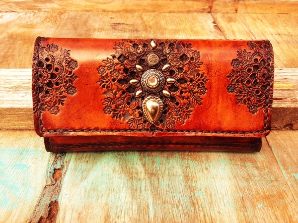 BOHEMIAN QUEEN LEATHER PURSE *ORDER*