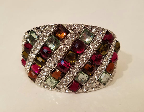 Large Multi-Color Rhinestone Bracelet - Bedazzled By Jeanelle - 1