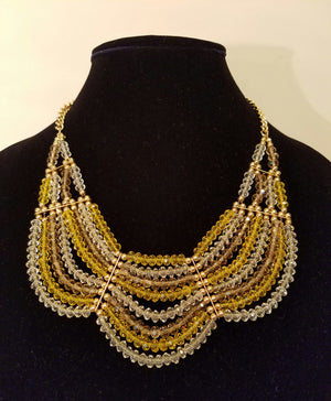 Lime Yellow Fashion Necklace - Bedazzled By Jeanelle