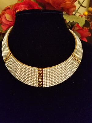 Rhinestone Choker Necklace - Bedazzled By Jeanelle