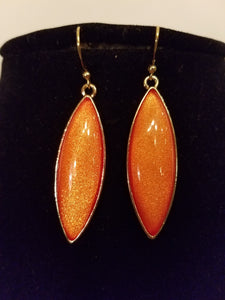 Light Burn Orange Dazzle Fashion Earrings - Bedazzled By Jeanelle
