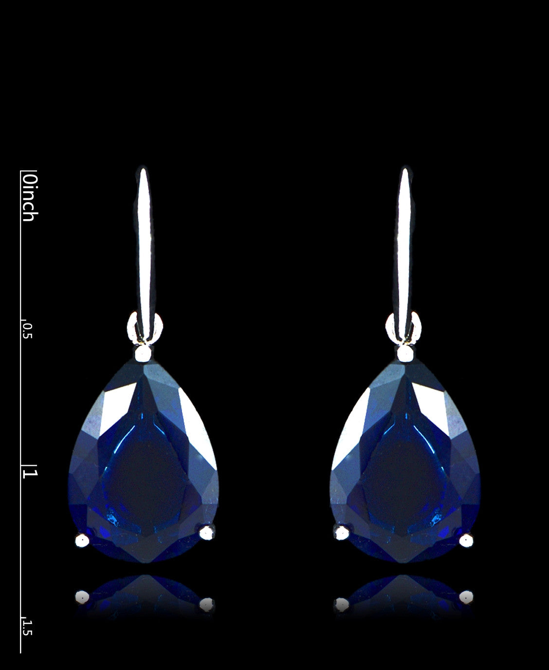 Sapphire Cubic Zirconia Drop Dangle Earrings - Bedazzled By Jeanelle - 2