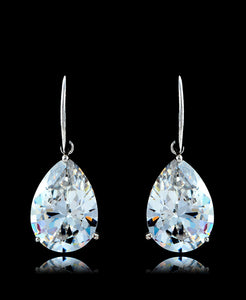 Crystal Cubic Zirconia Drop Dangle Earrings - Bedazzled By Jeanelle - 1
