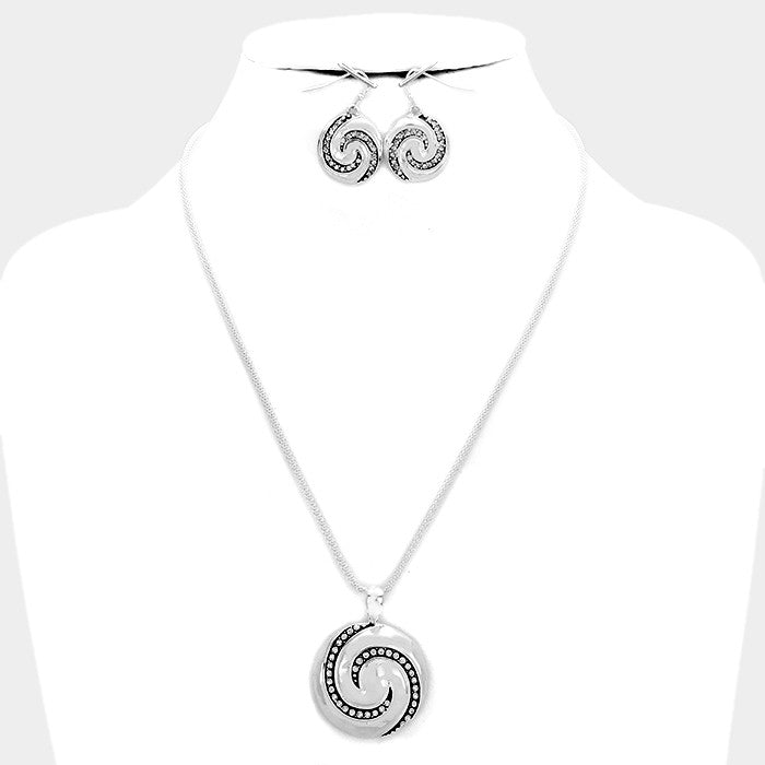 Filigree Swirl Necklace Set