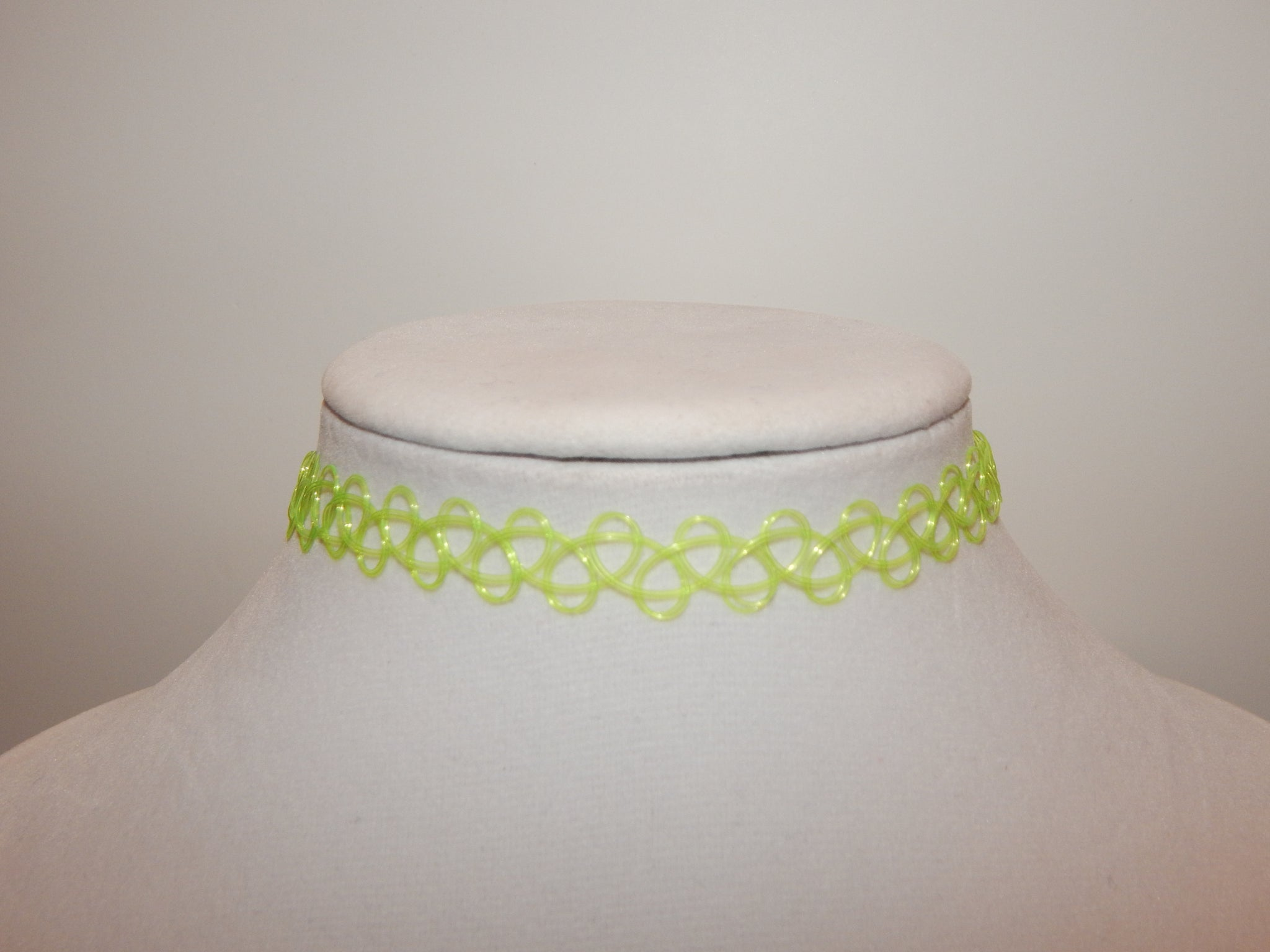 Neon Green Tattoo Choker