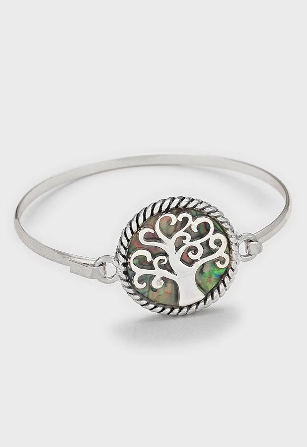 Abalone Filigree Tree Bangle Bracelet - Bedazzled By Jeanelle