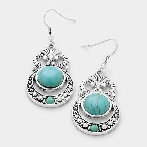 Antique Turquoise Fashion Earrings